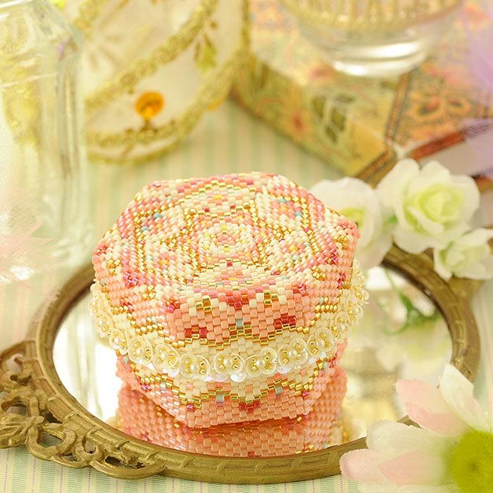 ステッチボックス〜手毬箱・桜〜