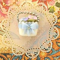 ボンボニエール リボンバッグ 紫陽花