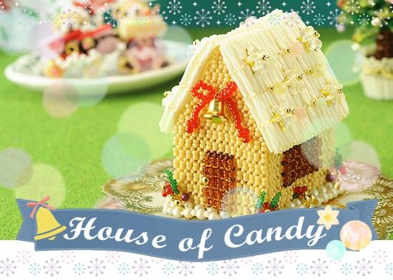 ハウス・オブ・キャンディ  ビーズキット ミニチュア ヘクセンハウス お菓子のお家 マルチボックス