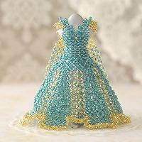 【ミニチュアドレスキット】Jewelry(ジュエリー)グリーン