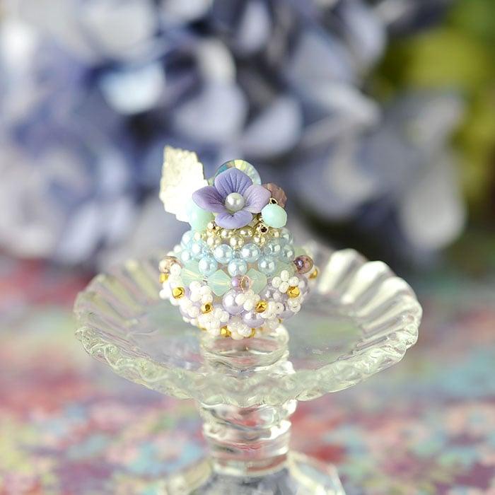紫陽花のドームケーキ