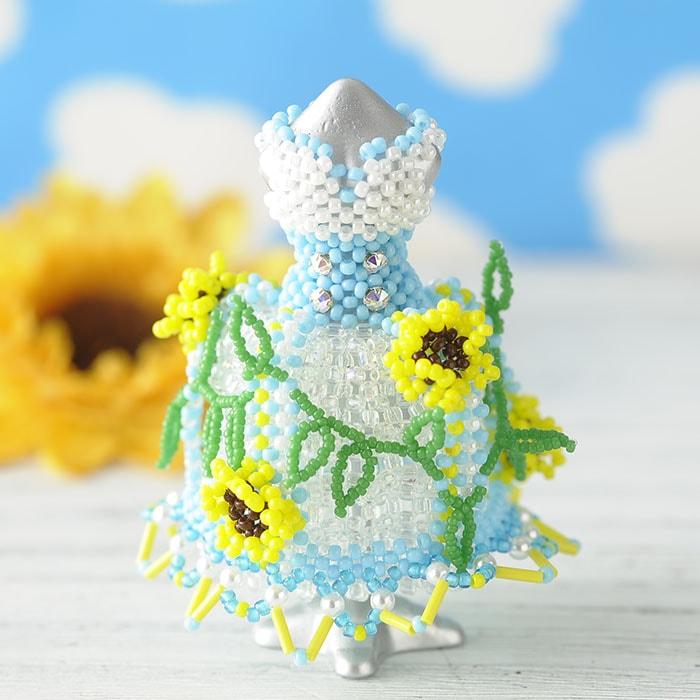 【ミニチュアドレスキット】Sunflower/ヒマワリ(ブルー)