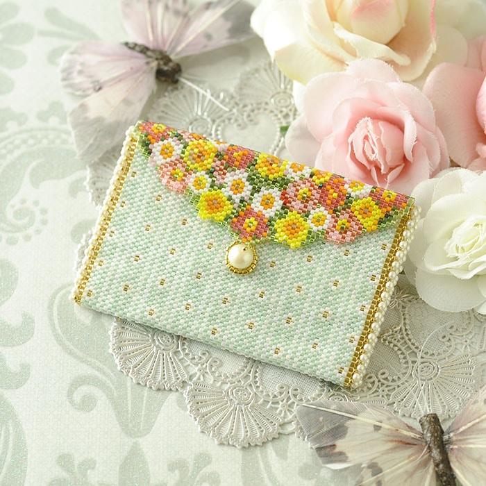 ミニポーチ〜薔薇と蝶〜