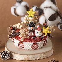 ビーズで編みぐるみ〜クリスマスケーキ〜