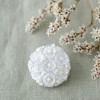 コデマリ ビーズ刺繍ブローチキット