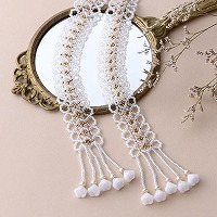 White lace Lariat