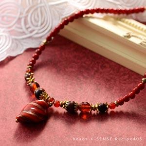赤いヴェネチアンのグレースネックレス