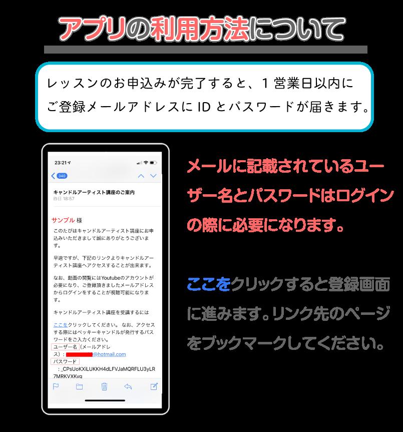 アプリの利用方法について