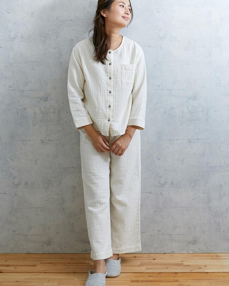 ダブルガーゼ レディースパジャマ 長袖(9分袖)