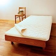ウールフィーユ×プロファイルウレタン敷き布団【カセット式】+ハニカムメッシュパッド