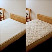 ウールフィーユ×ハニカムメッシュ洗える羊毛ベッドパッド