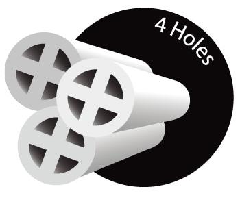 4穴(4-hole Fiberfill)