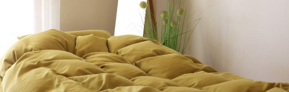 寝床内を整える