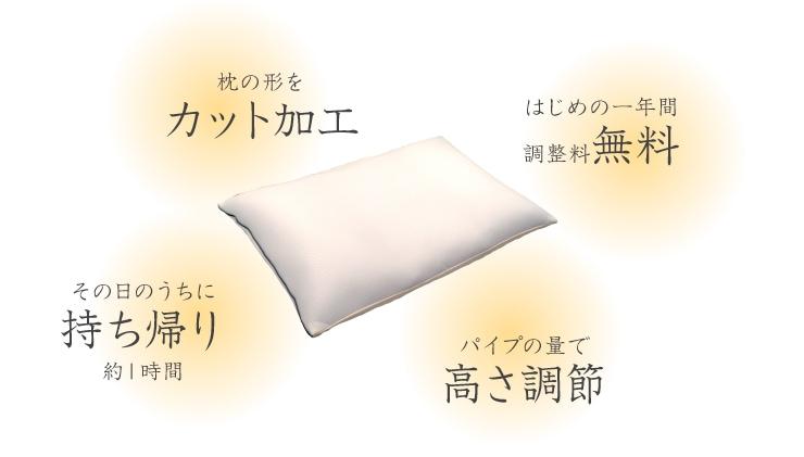 気持ち良い眠りはじぶんに合った枕から