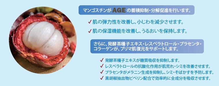 AGE抑制と美肌成分
