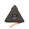 eyl triangle coin purse dyneema xgrid black x orange title=