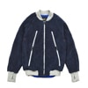 narifuri boa fleece bomber jacket light blue title=