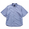 meanswhile Pinstripe Poper S/S Shirts navy title=