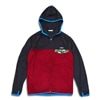 mma mountain martial arts thermolite fleece zip navy burgundy title=