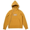 mma mountain martial arts 4way stretch sweat zip hoodie mustard title=