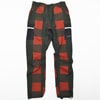 mma mountain martial arts 7pkt running long pants red check title=