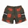 mma mountain martial arts 7pkt running pants red check title=