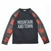 mma mountain martial arts buffalo check long sleeve tee red check title=