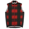 mma mountain martial arts quilting run vest red check title=