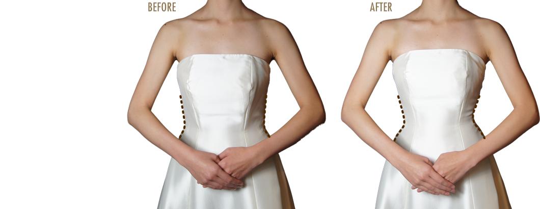 花嫁様の理想のクビレを叶えるためのウエストニッパー。憧れの美しいウエストラインが手に入ります!