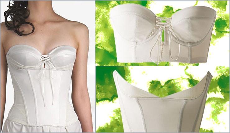 背中の大きく開いたドレス ブライダルインナー バックレスビスチェ バックレスドレスに合うブライダルインナー
