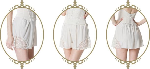 新婦様へおすすめ ドレス専用下着 Aラインやプリンセスラインにもおすすめ レースフレアパンツ|ブルームリュクスブライダルインナー