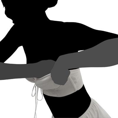 ドレス用下着 ブライダルボーテのストラップレスブラジャー バストを入れ込む方法