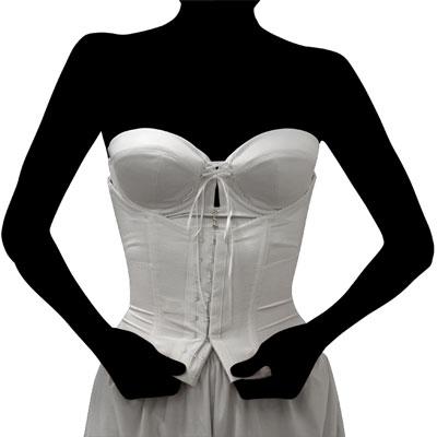 ドレス用下着 ブライダルボーテのウエストニッパー ウエストをクビレさせる方法