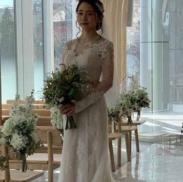 Asumiさんの花嫁ウェディングドレス写真