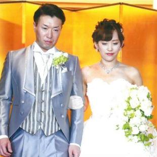 沙織さんの花嫁ウェディングドレス写真