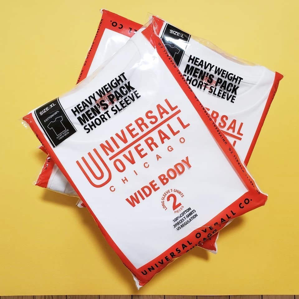 UNIVERSAL OVERALL ユニバーサルオーバーオール WIDE HEAVY 2PACKS SHORT SLEEVE TEE