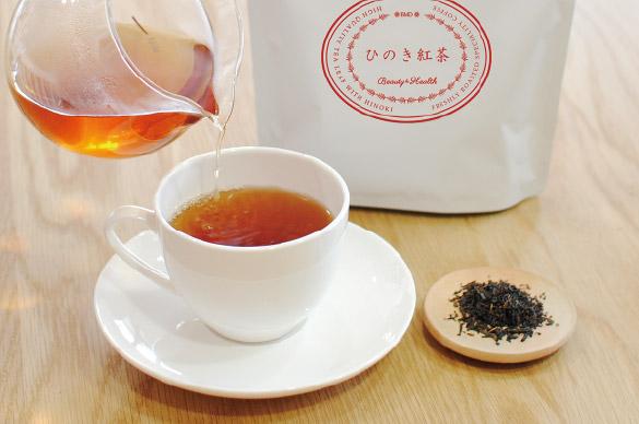 岡山県産ひのき葉と紅茶をブレンドしたひのき紅茶