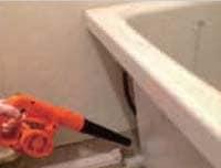 防カビ抗菌コートプラス使用方法/浴槽エプロンへの施工