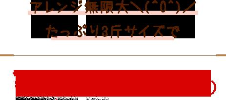 アレンジ無限大\(^O^)/ たっぷり3斤サイズで ¥1,300(税込 ¥1,404)
