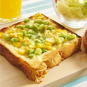 枝豆コーンデニッシュトースト
