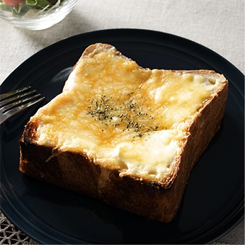 クリームチーズオンチーズトースト
