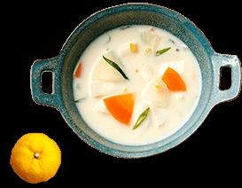 白味噌仕立ての京風ミルクスープ