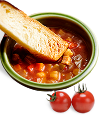 ひよこ豆と野菜のミネストローネ