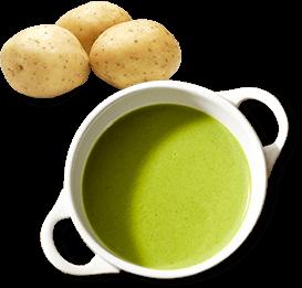 7種の野菜のグリーンポタージュ
