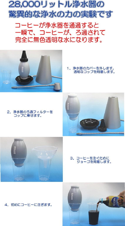 驚異的な浄水の力の実験