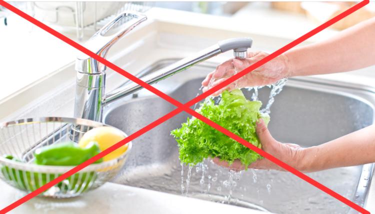 野菜洗いにも浄水を