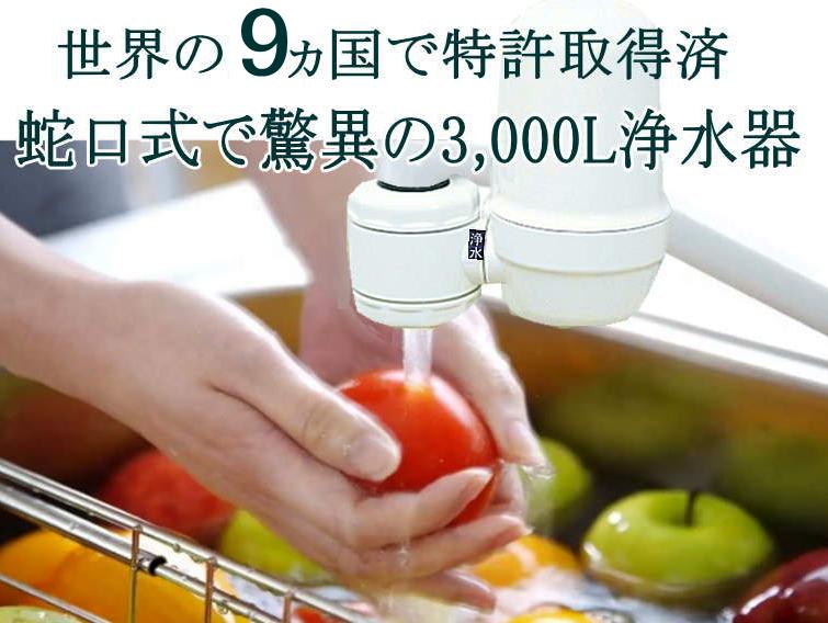 世界の9ヵ国で特許取得の3000L浄水器