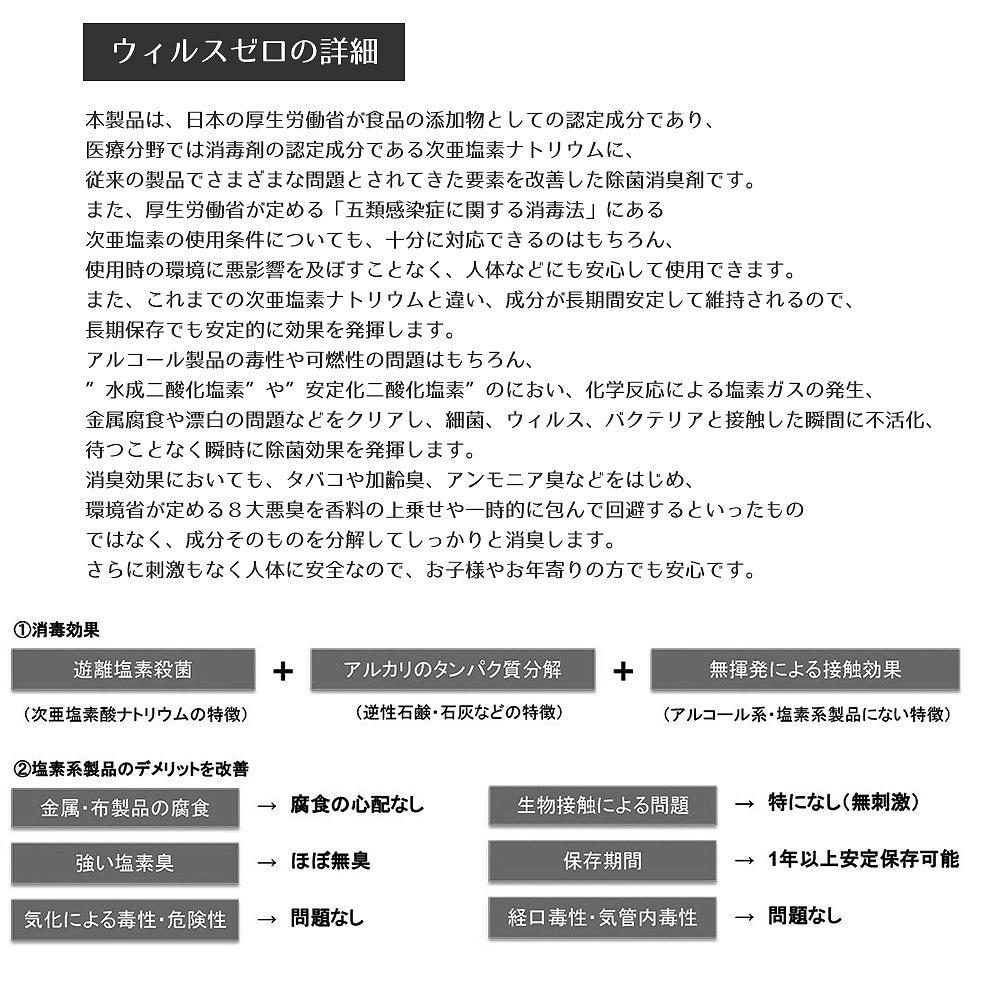 除菌剤・ウィルスゼロの詳細