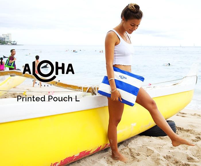 アロハコレクション/【L】Aloha Collection Pouch Printed 撥水ポーチ Lサイズ
