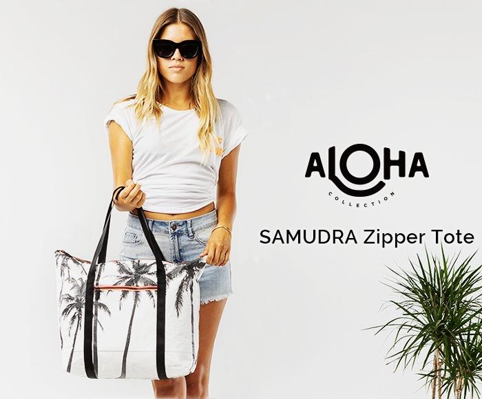 アロハコレクション Zipper Tote SAMUDRA トートバッグ